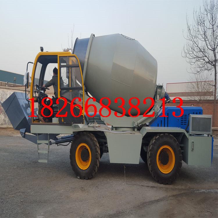 自上料混凝土搅拌运输车 自己装料称重搅拌车 搅拌运输车