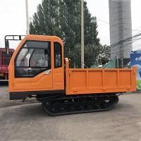江苏水田履带运输车 多用途小型橡胶链条运输车 实用款翻斗车