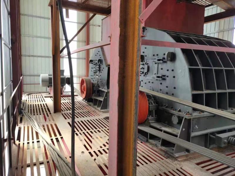 二手日产1万吨砂石料生产线设备石料破碎机制砂机低价处理