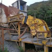 二手日产1800吨砂石料生产线设备石料破碎机制砂机