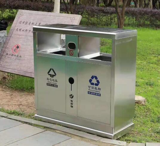 分类垃圾桶  不锈钢果皮箱
