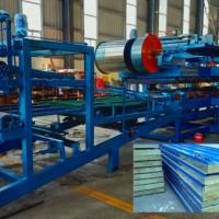 上海技术泡沫夹心复合板机 全自动岩棉保温板生产线现货价格