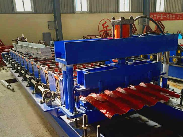 三层压瓦机840-900-800竹节顶瓦机厂家兴和