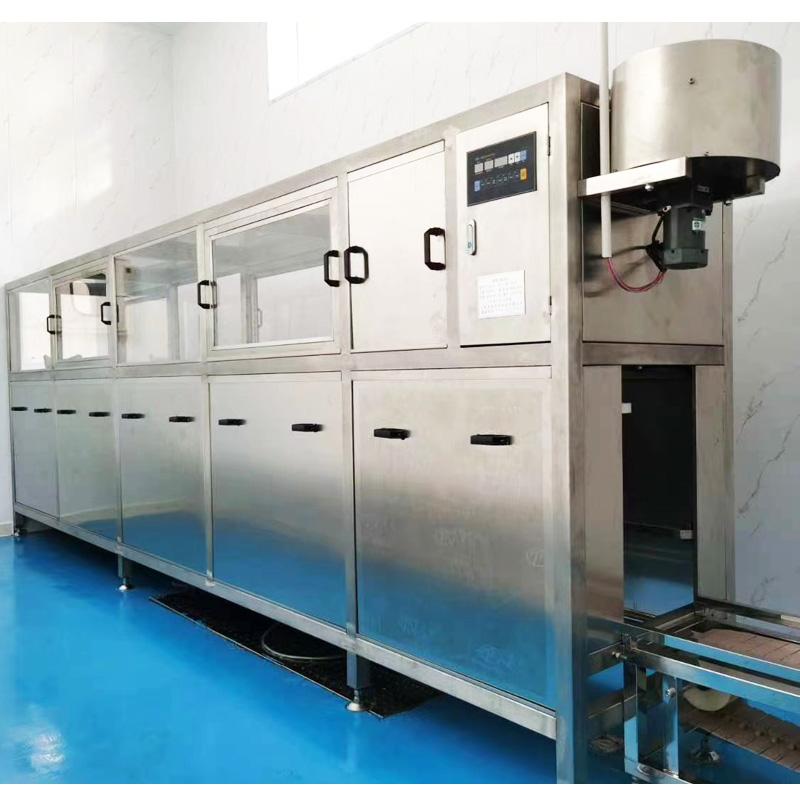 10工位5道冲洗全自动灌装机线150桶装水厂灌装设备大桶水