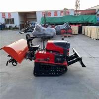 大棚履带式多功能旋耕机 丘陵地带耕地机农田乘坐式履带旋耕设备
