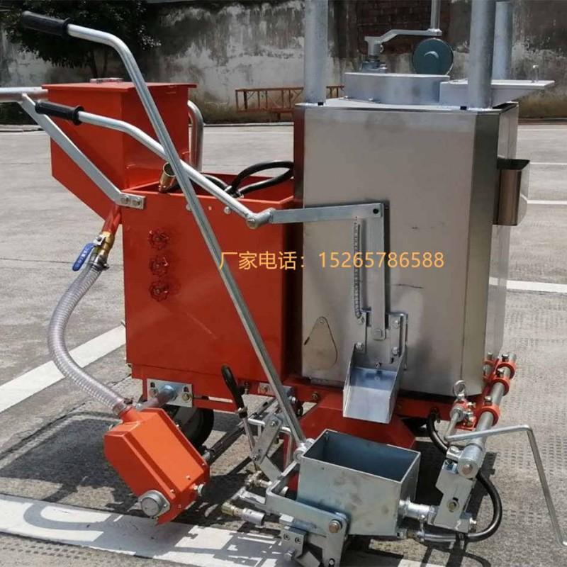 停车场地面热熔标线机 广场地坪手扶式划线机